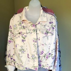 Candies large cotton button jacket with flowers.